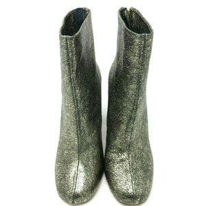 Joie Saleema Metallic Block Heel Booties